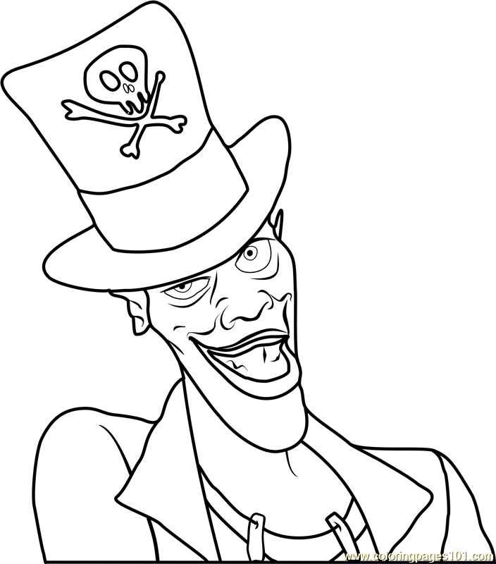 The Shadow Man Coloring Page