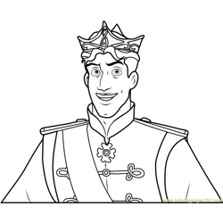 Prince Naveen Free Coloring Page for Kids