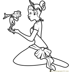 The Princess and the Frog Free Coloring Page for Kids