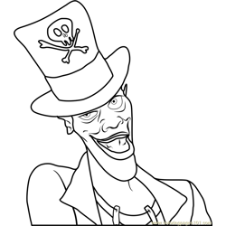 The Shadow Man Free Coloring Page for Kids