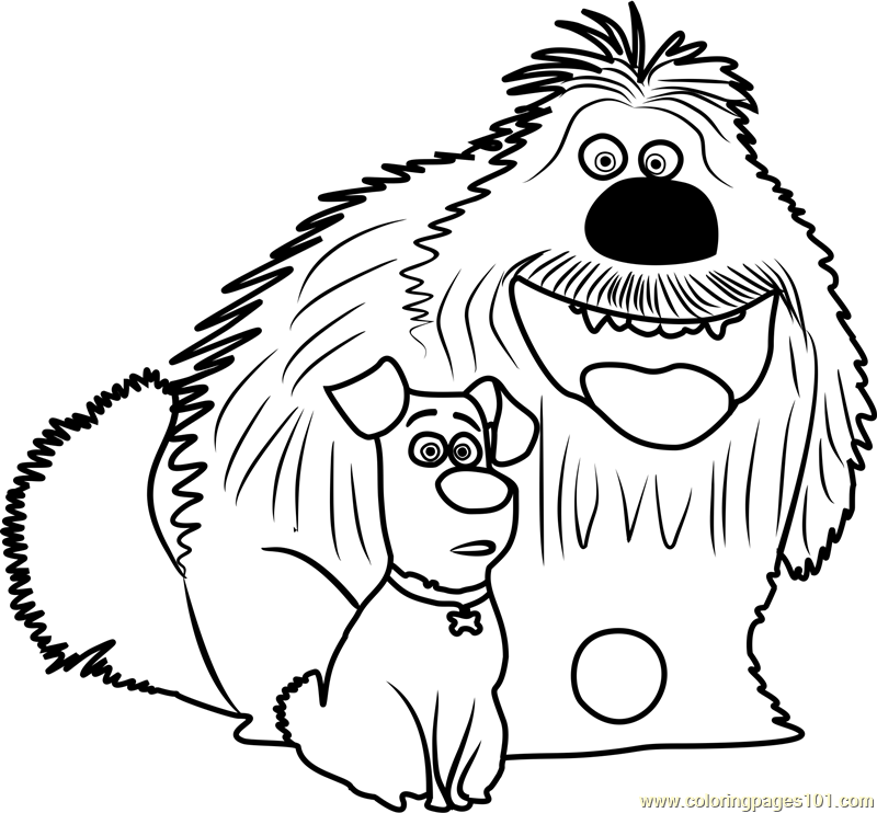 Duke and max coloring page free the secret life of pets for Secret life of pets printable coloring pages