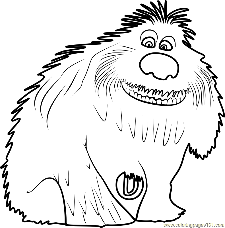 Duke Coloring Page - Free The Secret Life of Pets Coloring ...