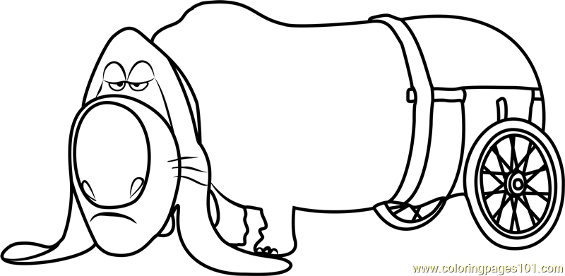 Pops coloring page free the secret life of pets coloring for Secret life of pets printable coloring pages