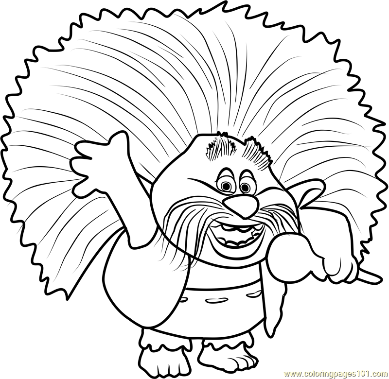 king peppy from trolls coloring page - Coloring Page Trolls