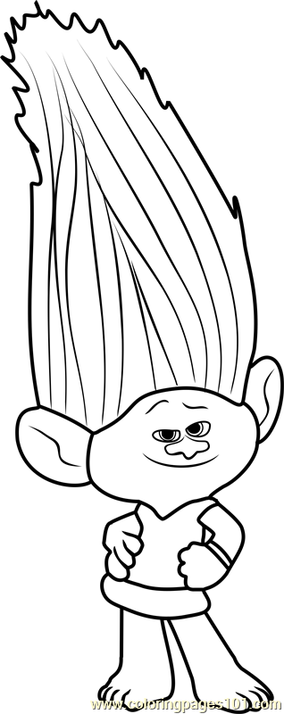Mandy Sparkledust From Trolls Coloring Page