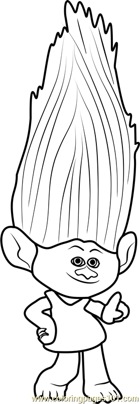 Moxie from trolls coloring page free trolls coloring for Troll coloring pages