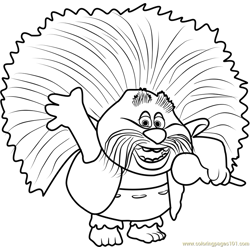 King Peppy from Trolls Free Coloring Page for Kids