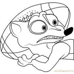 Duke Weaselton Free Coloring Page for Kids