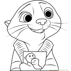 Mrs Otterton Free Coloring Page for Kids