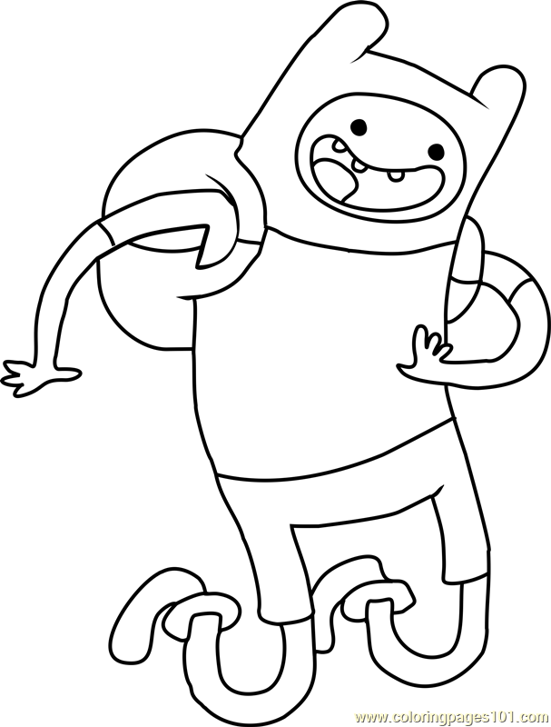 Adventure Time Finn Coloring Page  Free Adventure Time Coloring