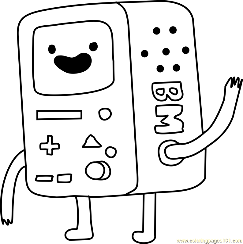 BMO Coloring Page Free Adventure