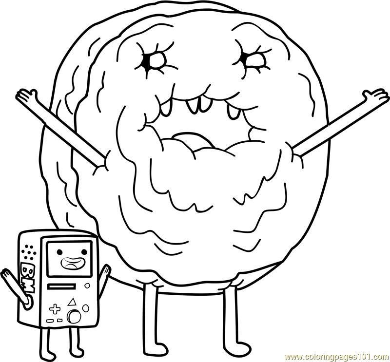 Cinnamon Bun and Beemo Coloring Page - Free Adventure Time ...