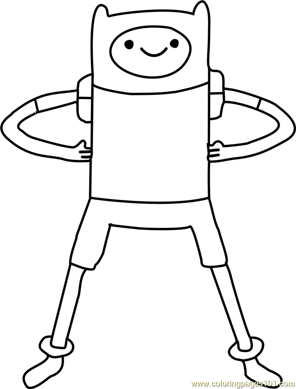 Finn Coloring Page