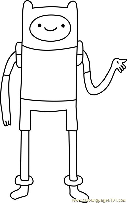finn the human coloring page