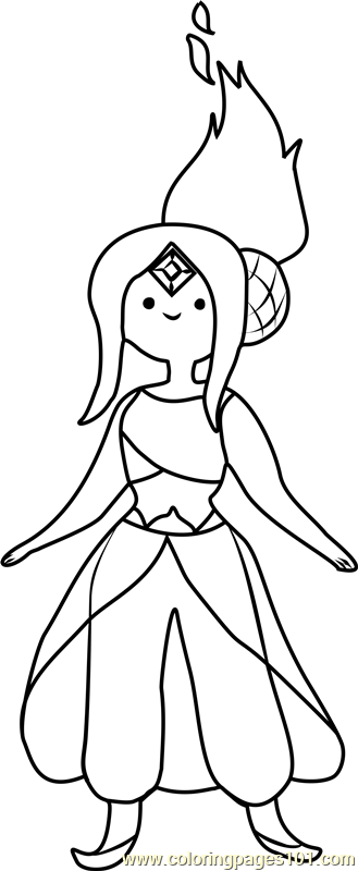 Flame Princess Coloring Page