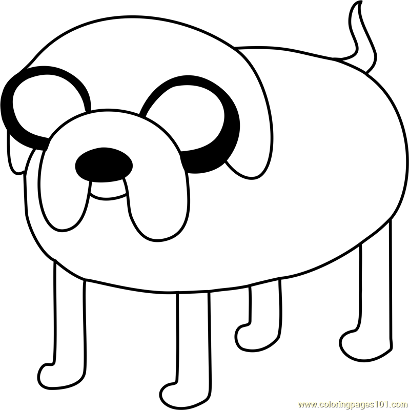 Jake Coloring Page