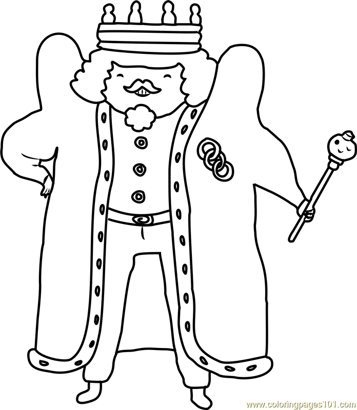 King of Ooo Coloring Page