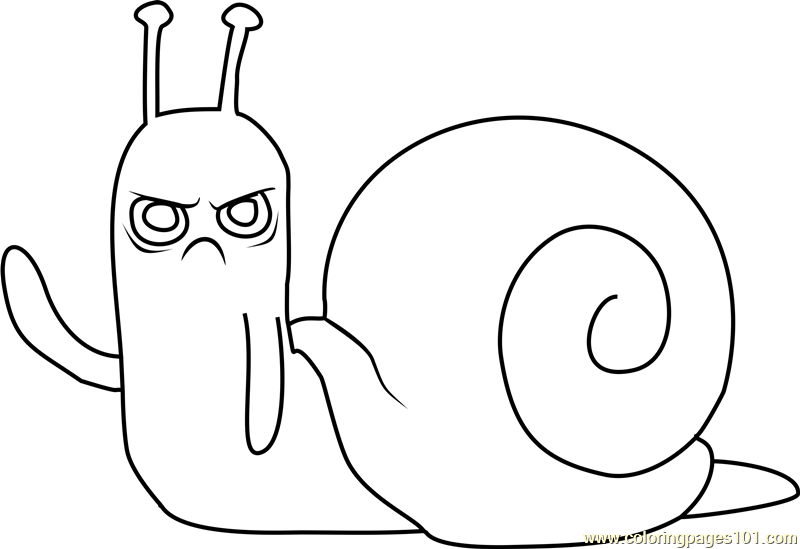 Lich Snail Coloring Page  Free Adventure Time Coloring Pages