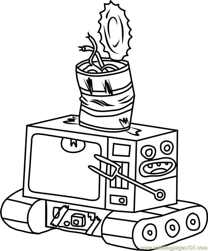 Never Ending Pie Throwing Robot Neptr Coloring Page