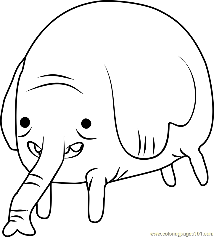 Tree Trunks Coloring Page - Free Adventure Time Coloring ...