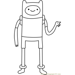 finn the human coloring page - Adventure Time Coloring Pages Finn