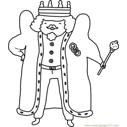 King of Ooo Free Coloring Page for Kids