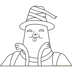 Magic Man Free Coloring Page for Kids