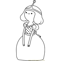 Princess Bubblegum Free Coloring Page for Kids
