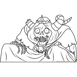 The Lich Free Coloring Page for Kids