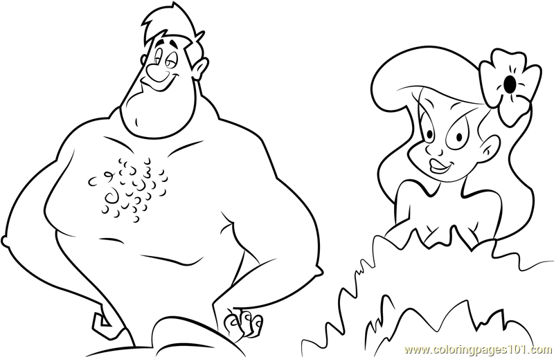 Adam and Eve Coloring Page