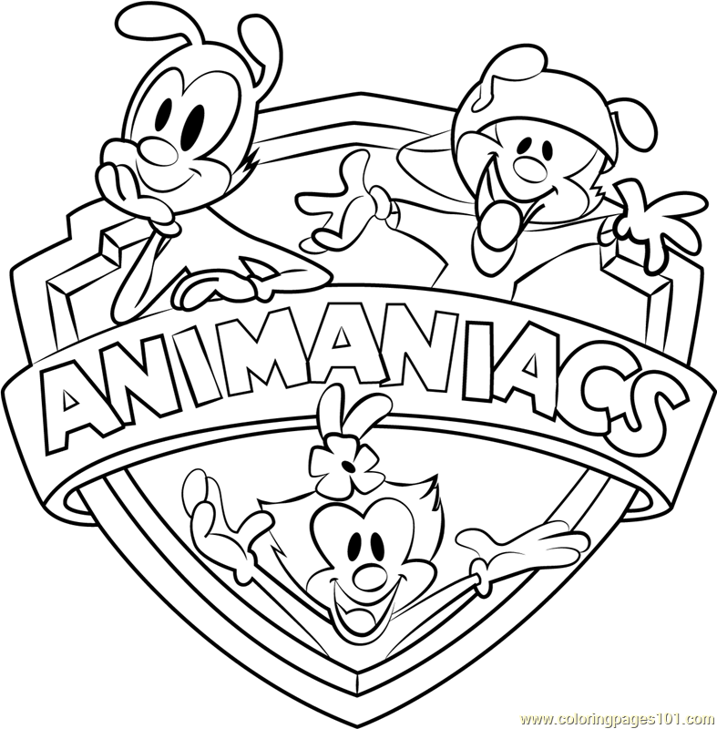 Animaniacs logo coloring page free animaniacs coloring for Animaniacs coloring pages