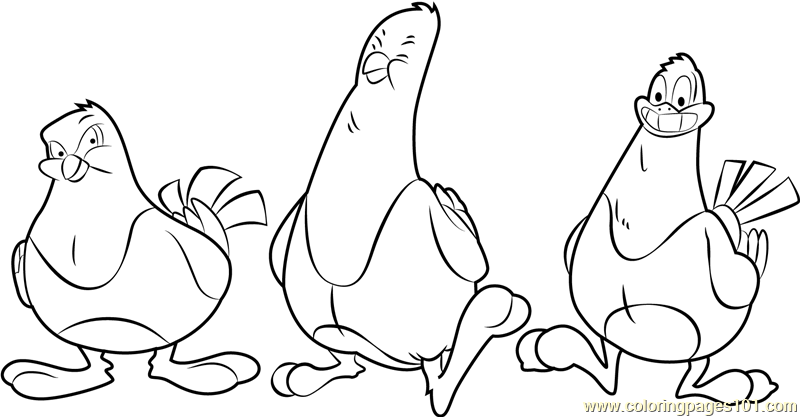 Pesto good feathers Coloring Page