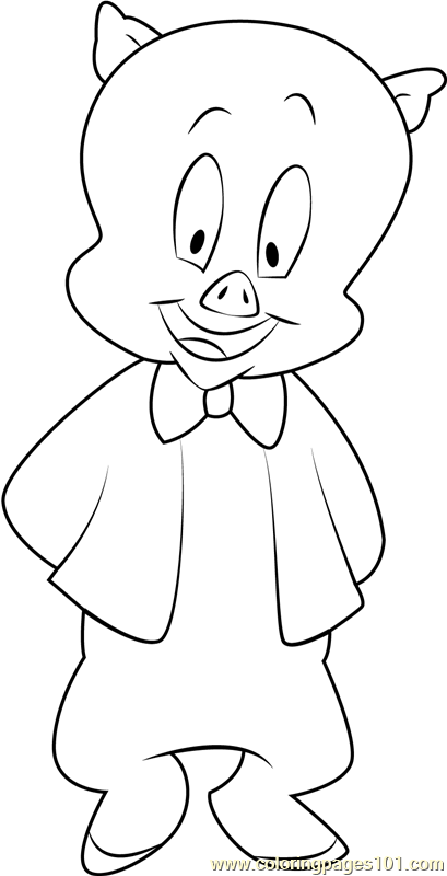 Porky Pig Coloring Page - Free Animaniacs Coloring Pages ...