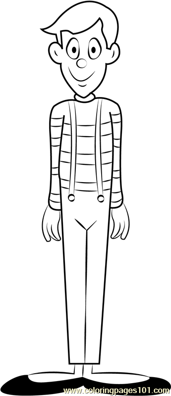 The Mime Coloring Page