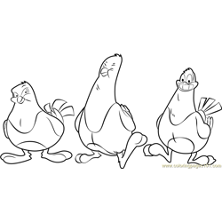 Pesto good feathers Free Coloring Page for Kids