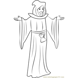 The Grim Reaper Free Coloring Page for Kids