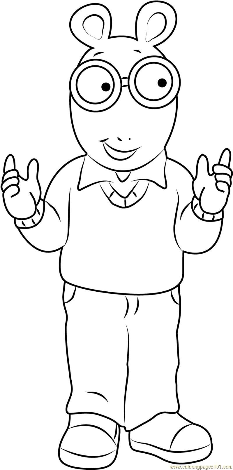 Arthur Read Coloring Page Free