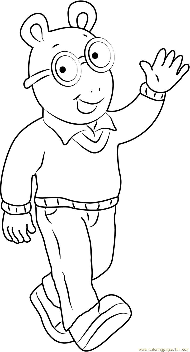 Arthur Say Hi Coloring Page