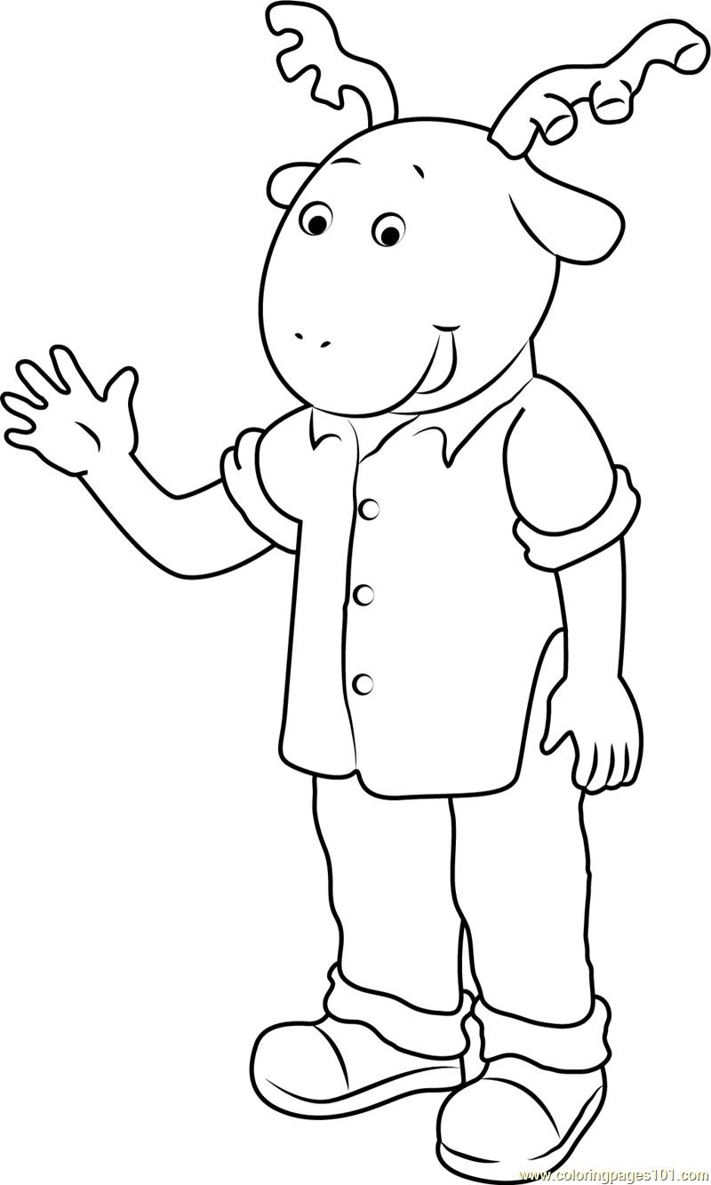 Hello Coloring Page Free Arthur
