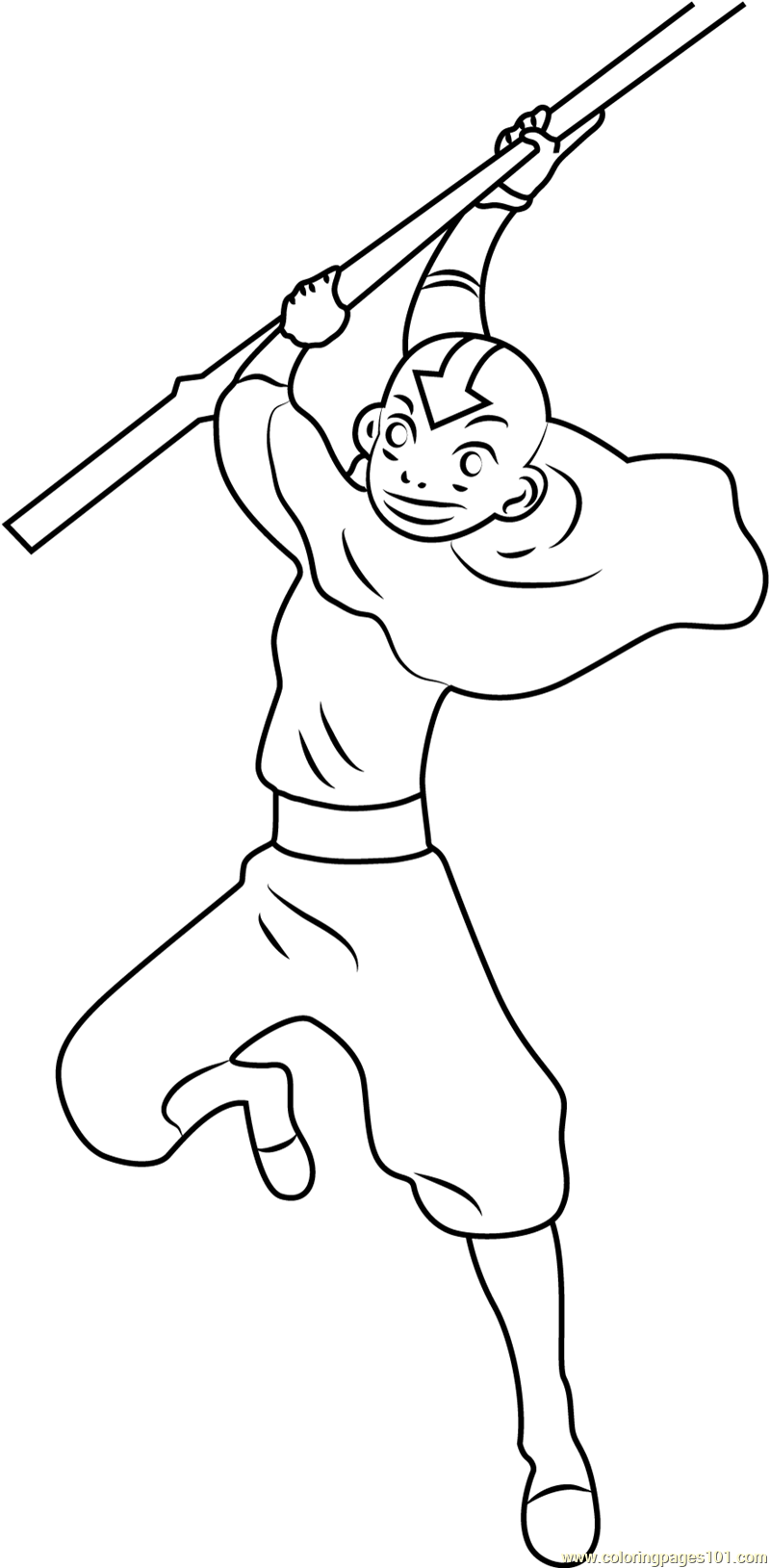 avatar aang coloring pages - photo#44