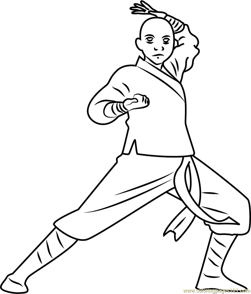 Avatar Aang Coloring Page: Avatar Aang Coloring Page