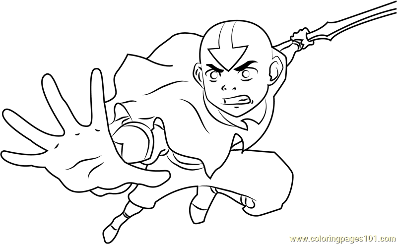 Avatar the legend of aang coloring page free avatar the for Avatar the last airbender coloring pages