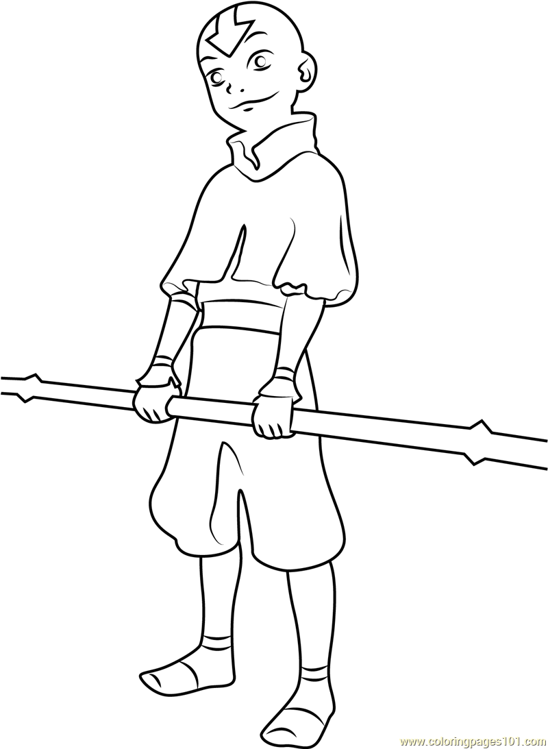 Last Airbender Coloring Page Free Avatar The Last