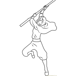 Aang Free Coloring Page for Kids