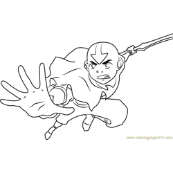 Avatar The Legend of Aang Free Coloring Page for Kids