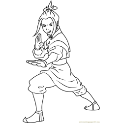 Katara Free Coloring Page for Kids