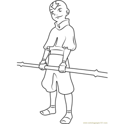 Last Airbender Free Coloring Page for Kids
