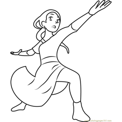 Zuko The Firebender Free Coloring Page for Kids