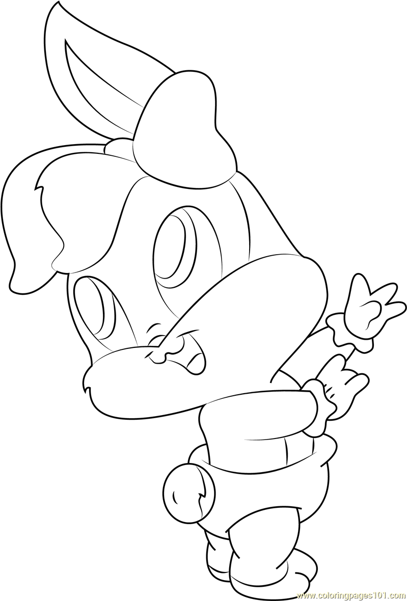 lola baby looney tunes coloring page free baby looney
