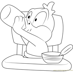 Looney See Free Coloring Page for Kids
